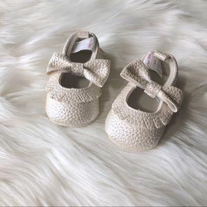 Other - Ivory Mocassins Baby Walker Size 0-6 Months
